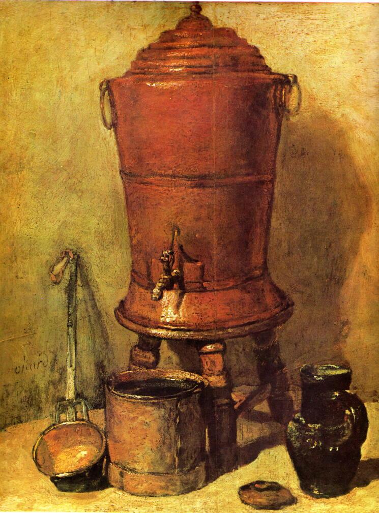 銅製の貯水器 シャルダン 絵画解...