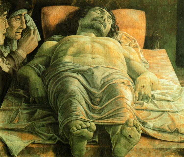 パドヴァの裕福な商人、スクロヴェーニ家の礼拝堂に描かれた壁画連作『キリ... 死せるキリストへの